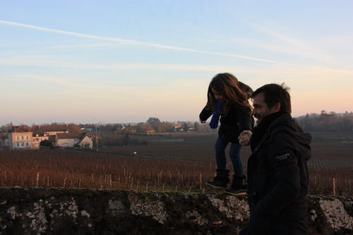 Free stock photo of burgundy, cold, daughter, family