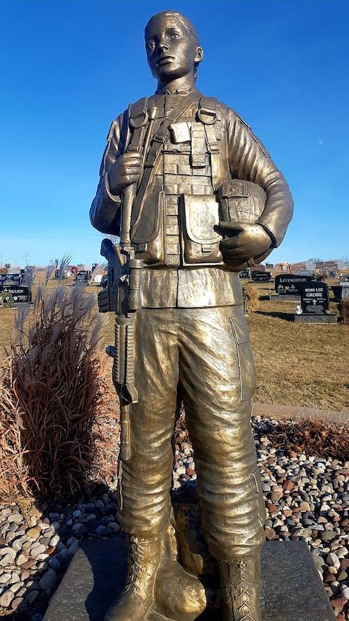 คลังภาพถ่ายฟรี ของ #statue #military