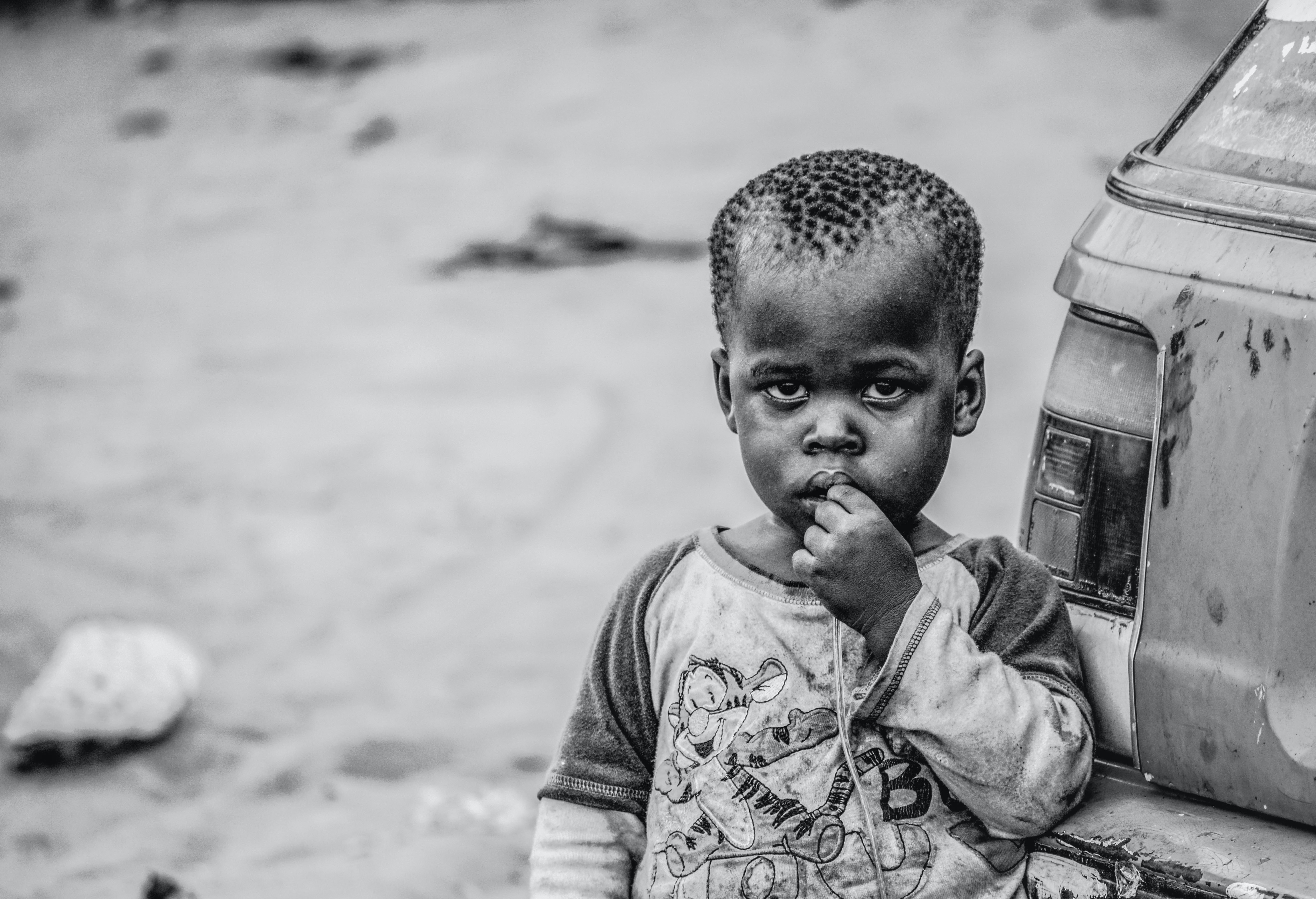 Free stock photo of african children black and white child