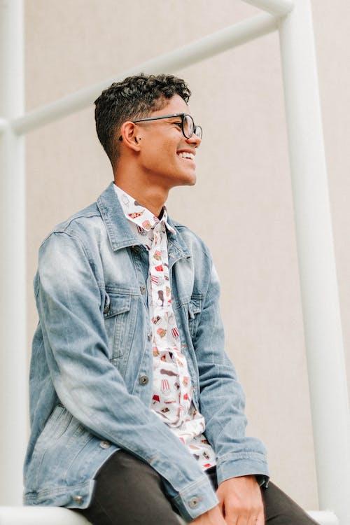 Men's Blue Denim Button Up Jacket