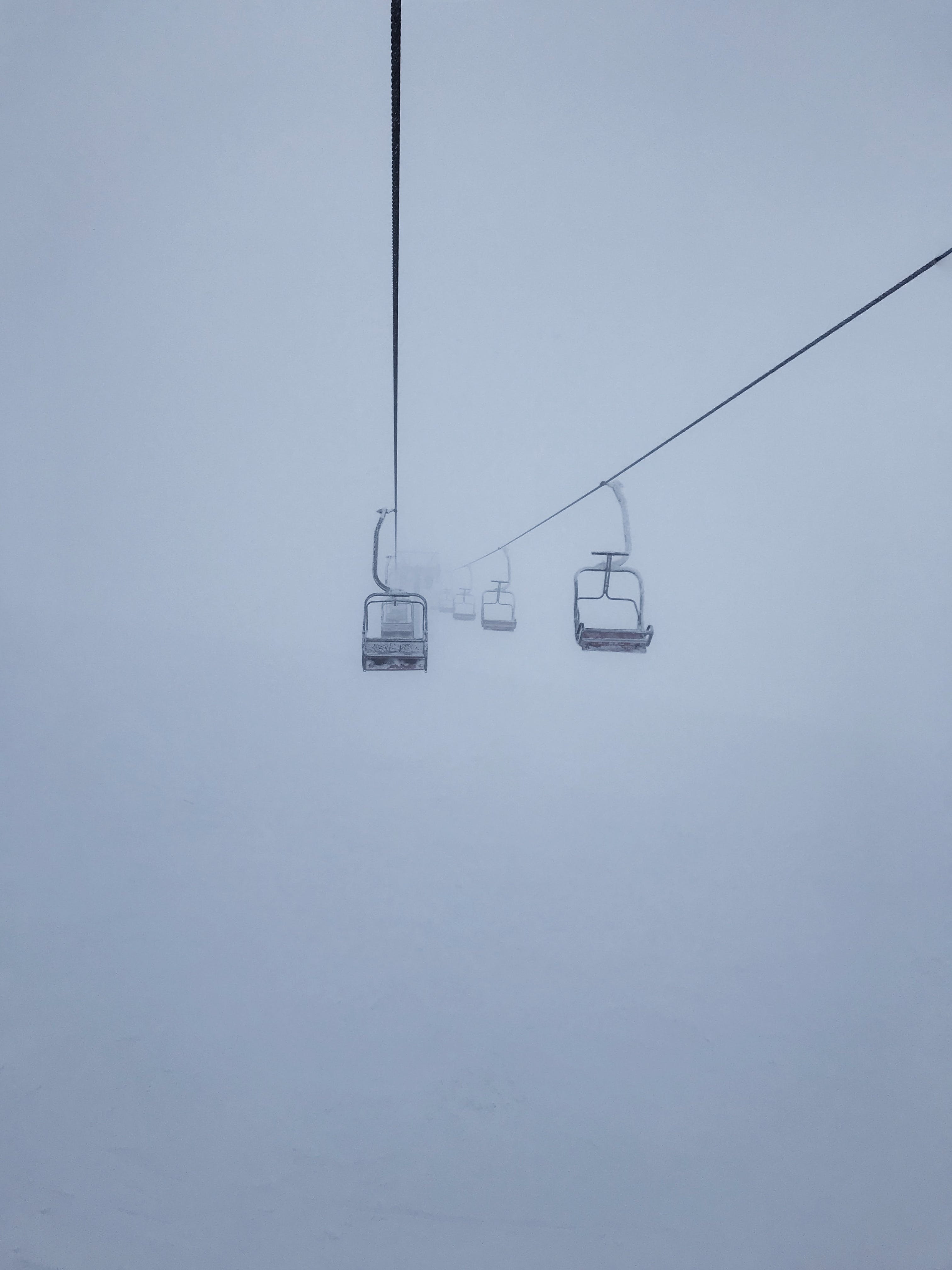 Free stock photo of cable car, cable cars, fog, foggy