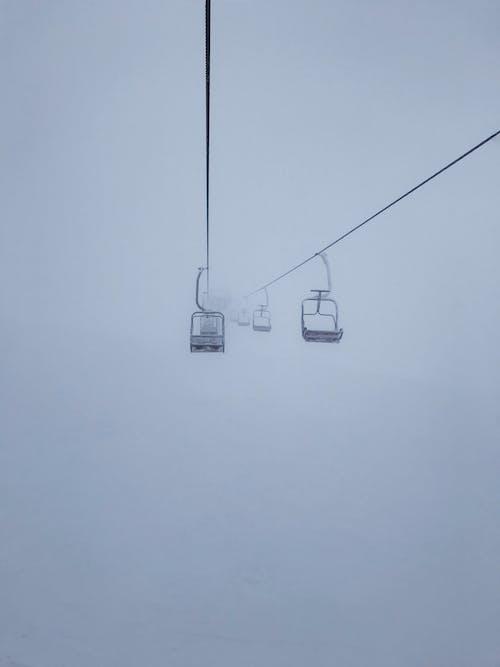강삭 철도, 겨울, 눈, 느와르의 무료 스톡 사진