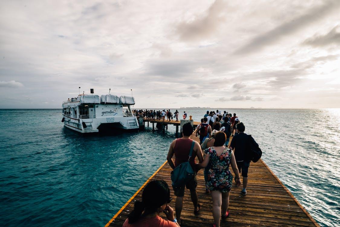 anløbsbro, båd, badebro