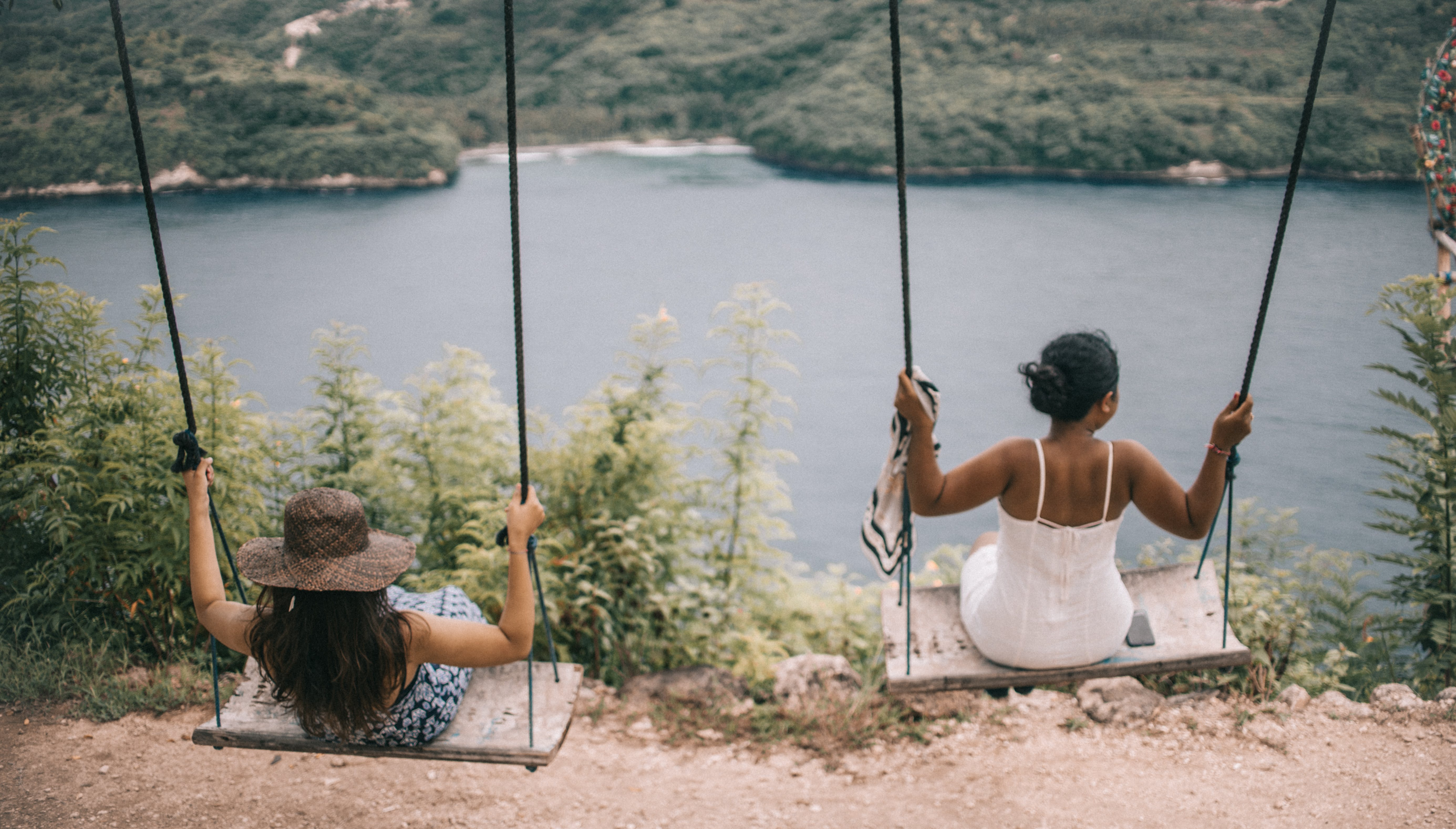 Photograph of Two Girls on a swing