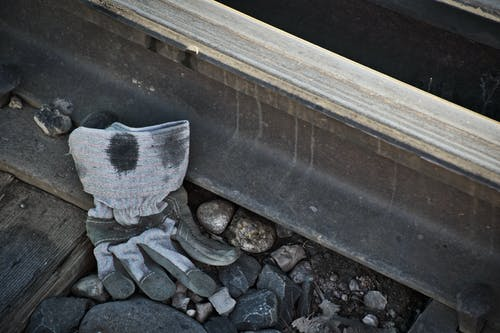 Free stock photo of discarded, rail, railroad, trash
