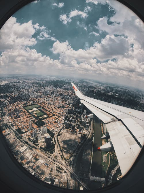 Foto d'estoc gratuïta de aigua, ala, ala d'avió, arquitectura