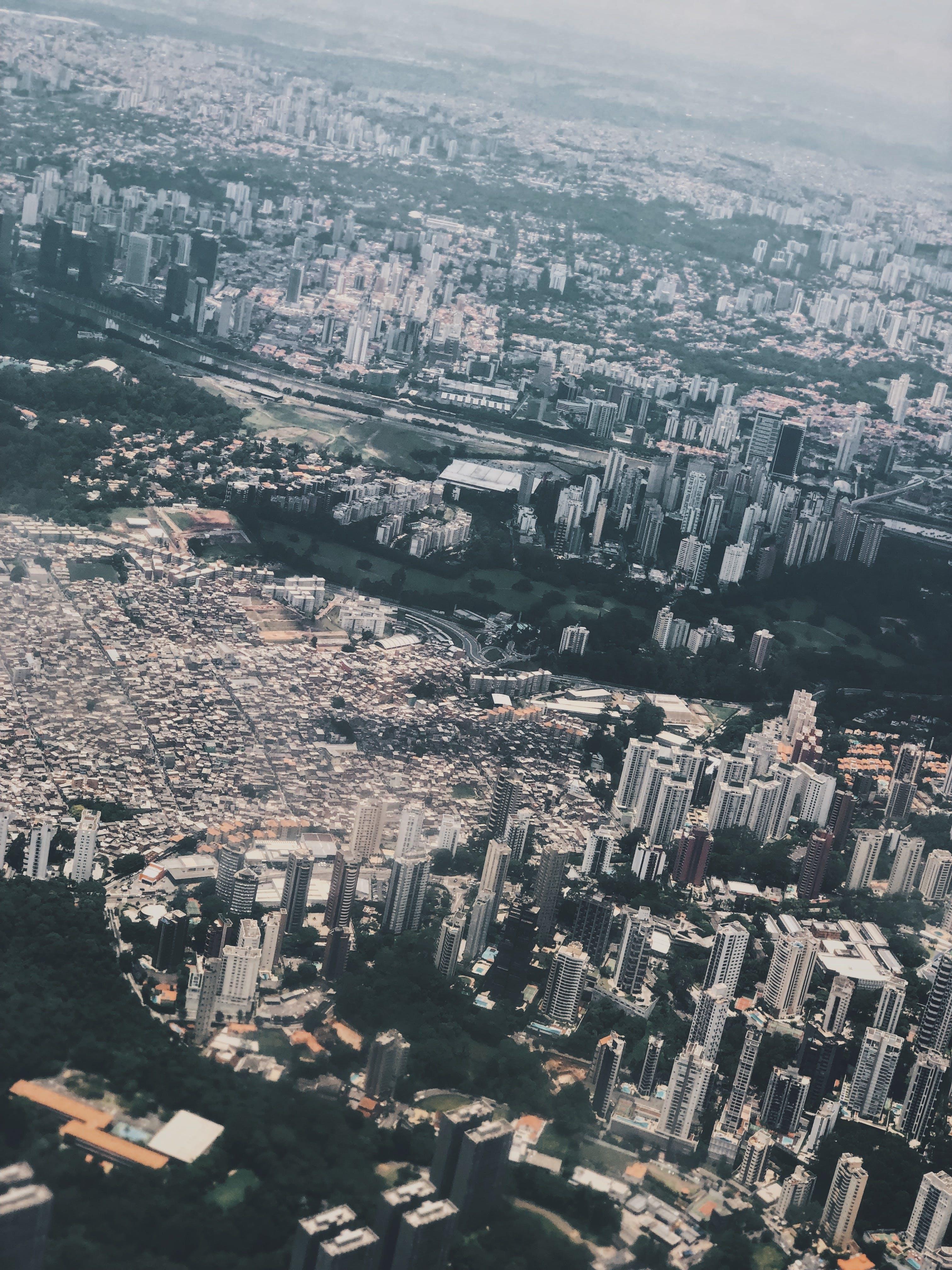 Bird's Eye View Of City During Daytime