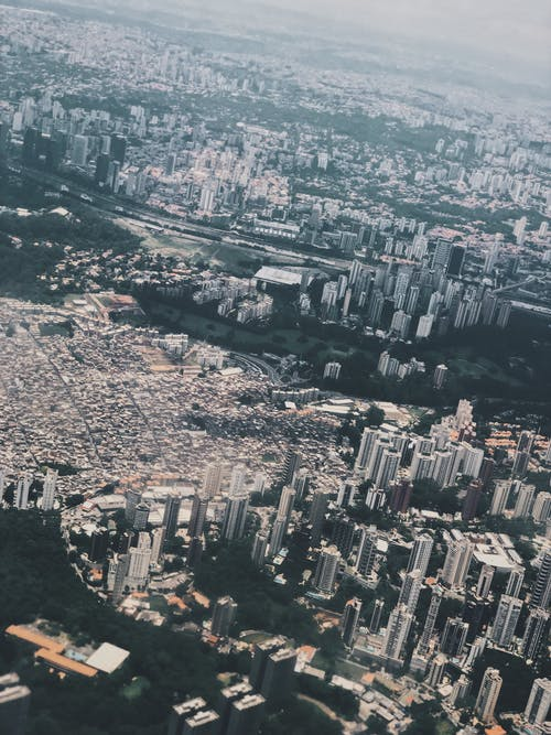 Bird's Eye View Of City During Daytime