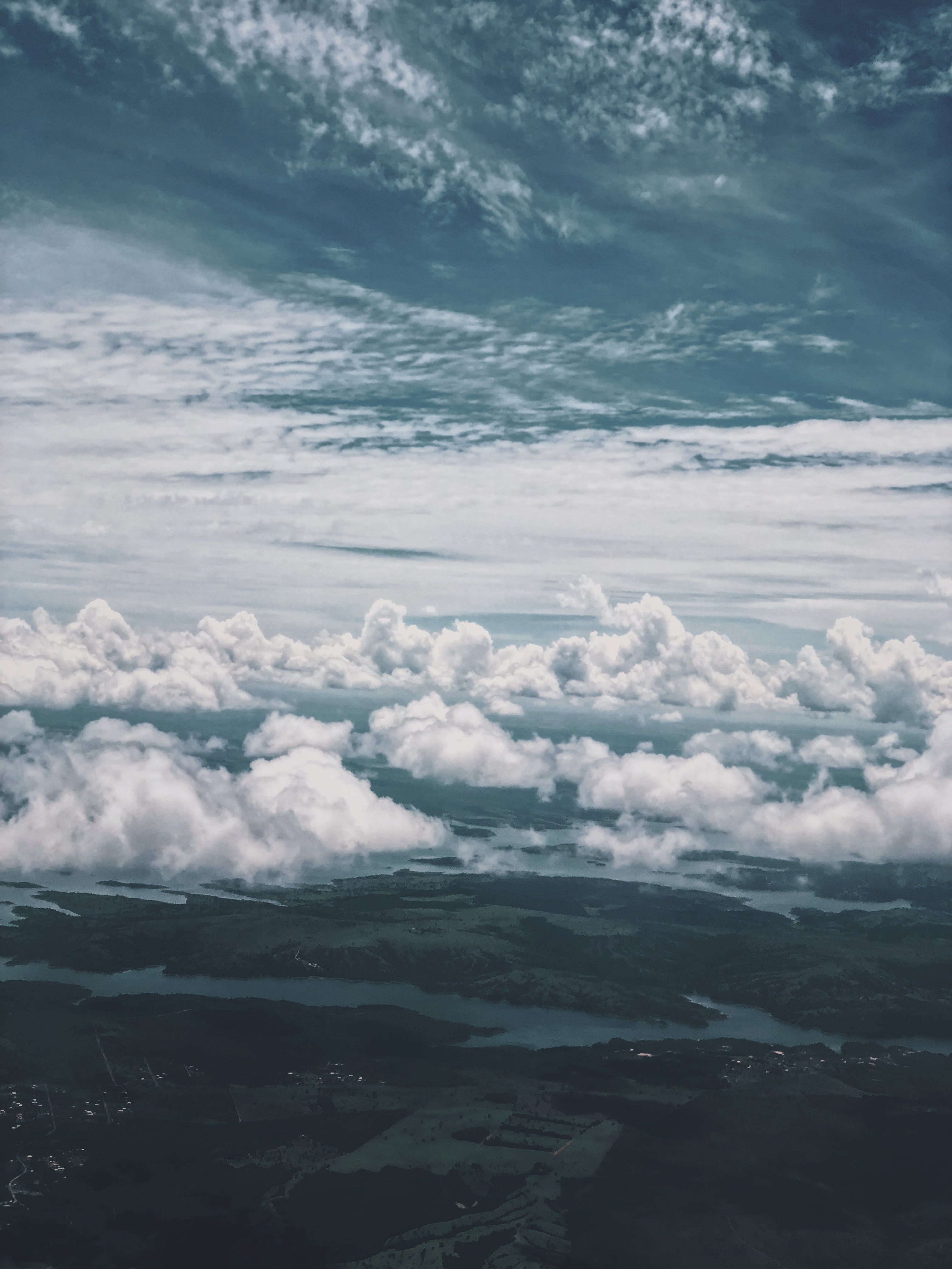 Bird's Eye View of Clouds During Daytime