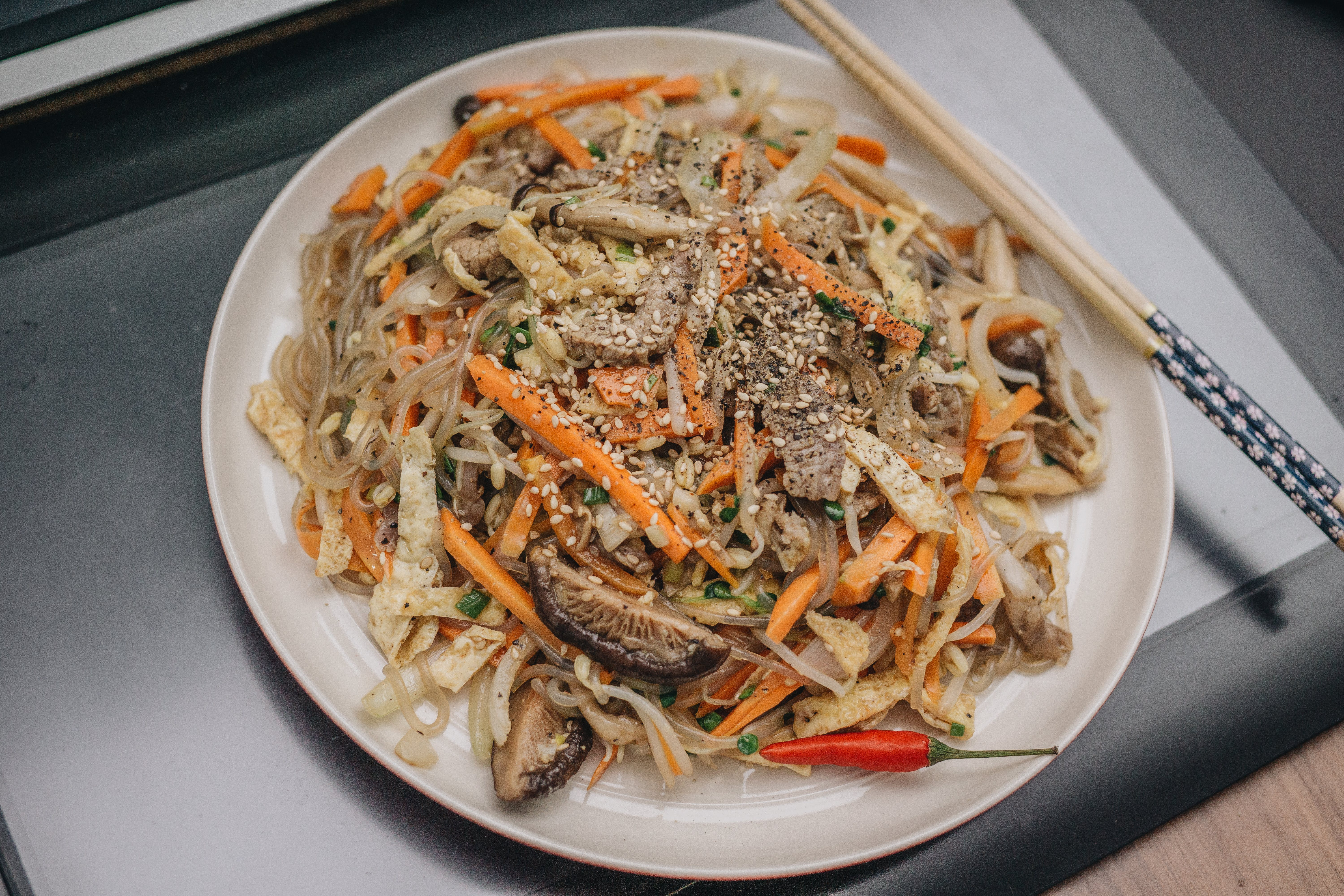Photograph of Fried Noodles with vegetables