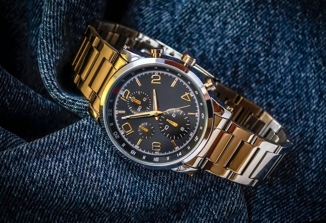 Free stock photo of acero inoxidable, deportivo, men's watch