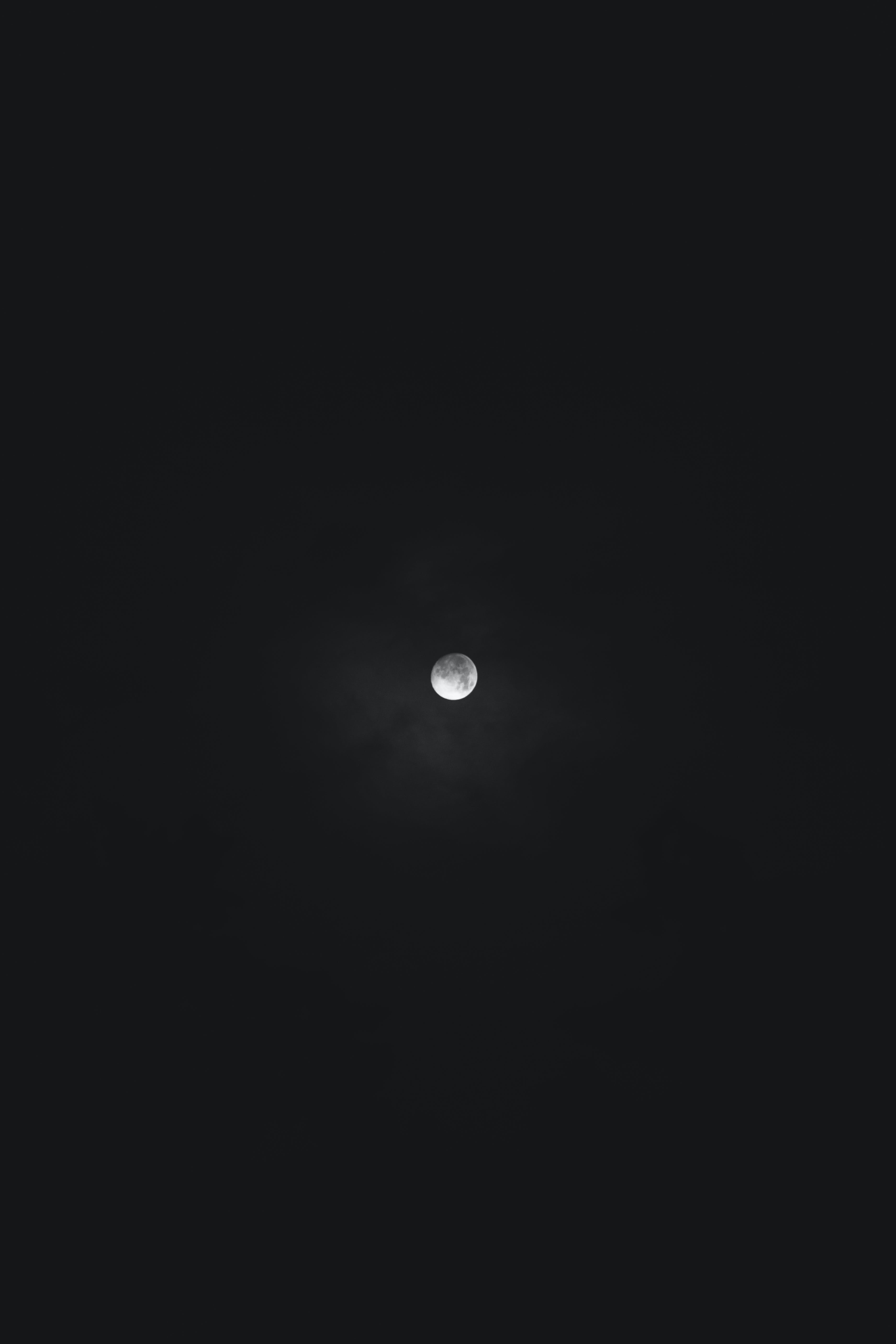Moon Covered With Dark Clouds