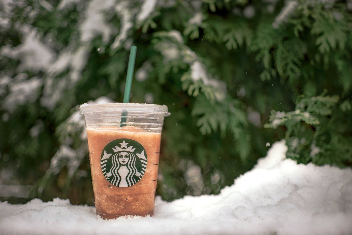Close-Up Photo of Starbucks Beverage