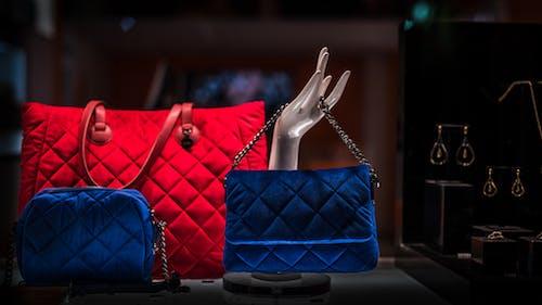 Free stock photo of colors, hand, handbag, night lights