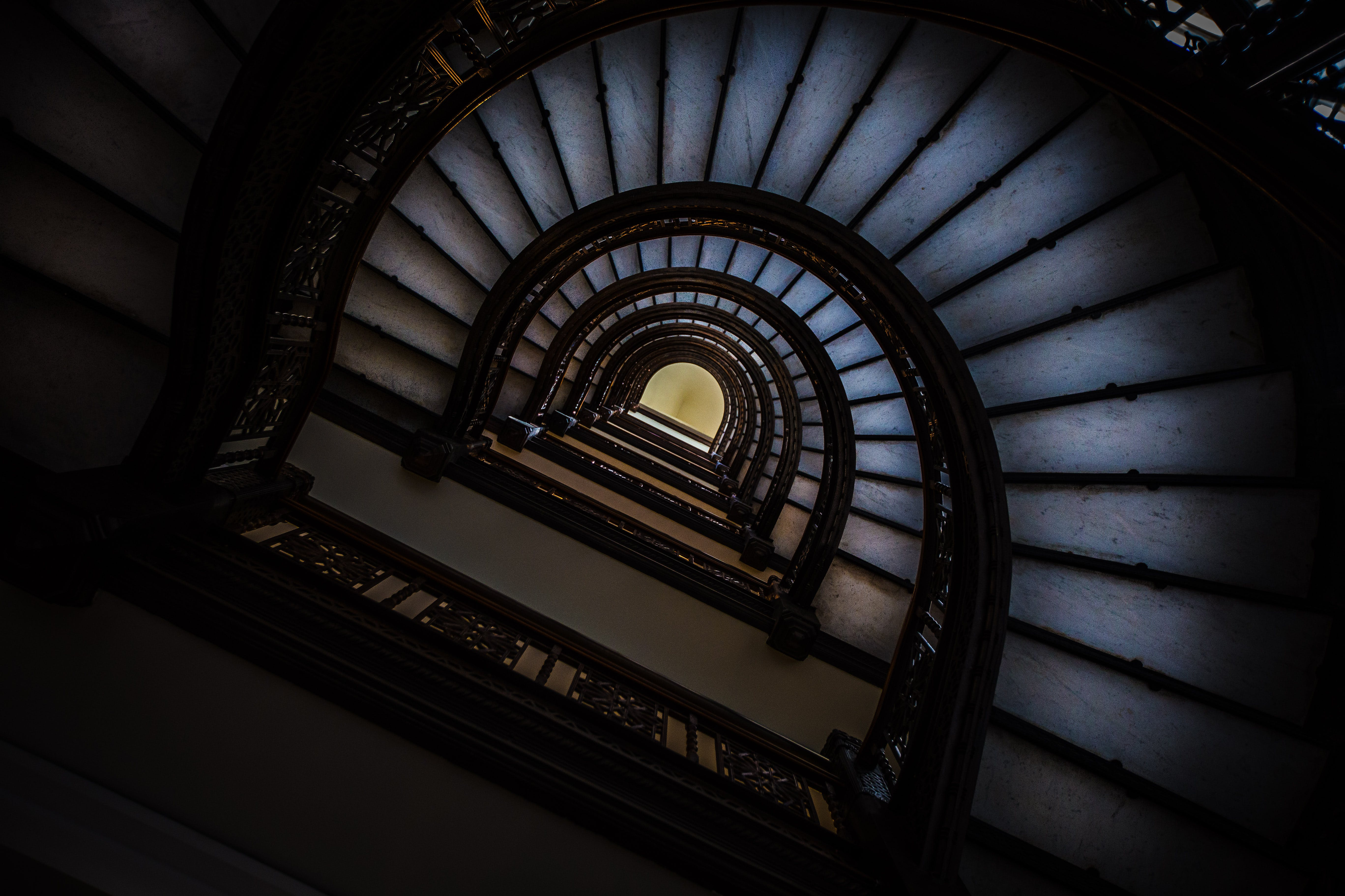 Low Angle Photo of Staircase
