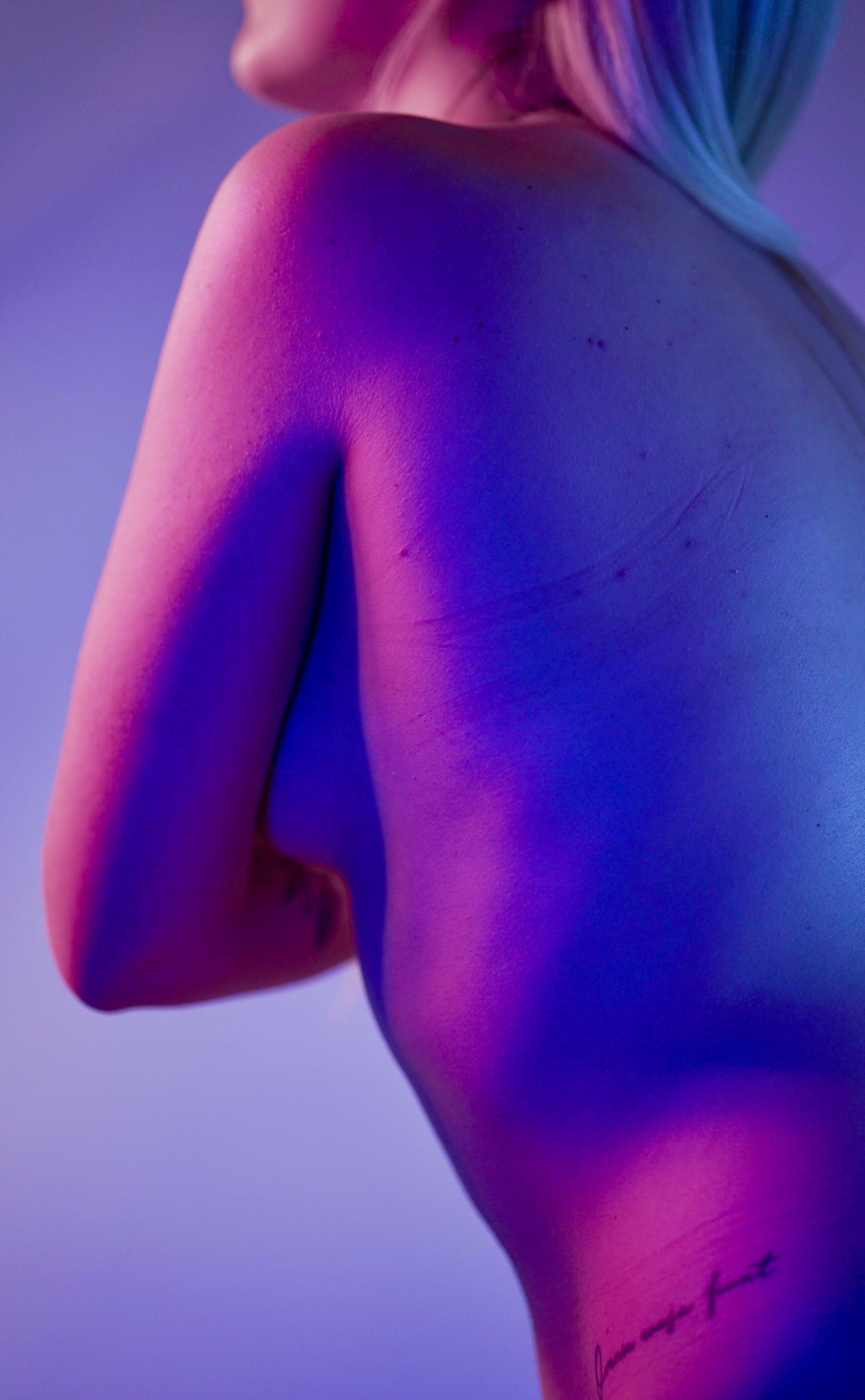 badan, bertelanjang dada, dewasa, kaum wanita