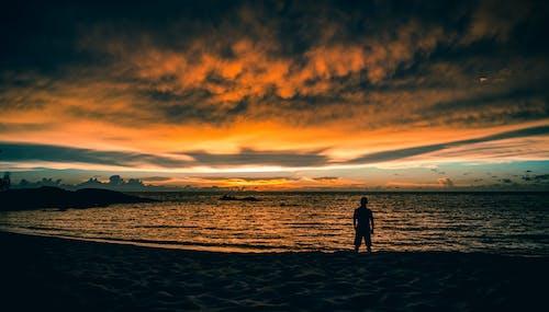 Imagine de stoc gratuită din apus, atmosferă sumbră, Cer întunecat, faleză