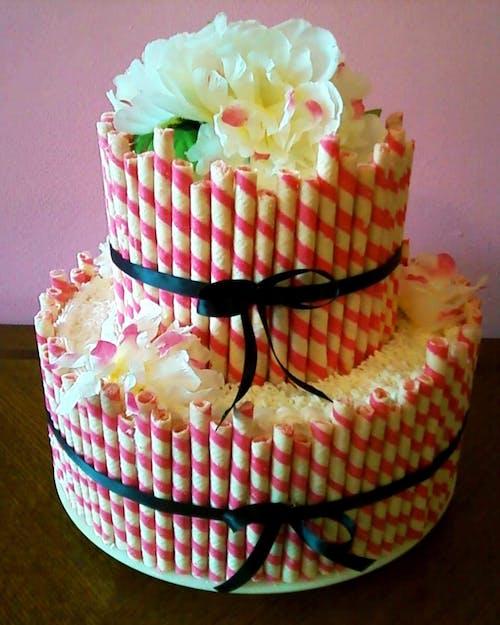 คลังภาพถ่ายฟรี ของ #cake #wedding #wedding cake #dessert #pink #flow
