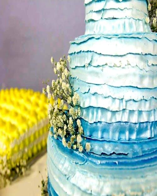 คลังภาพถ่ายฟรี ของ #wedding cake #dessert #wedding #cake #blue