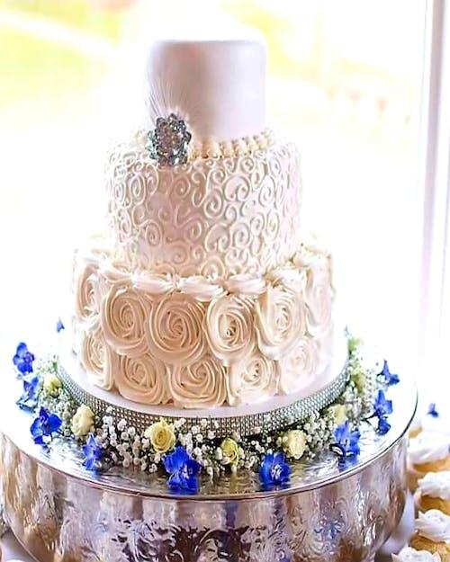 คลังภาพถ่ายฟรี ของ #wedding cake #dessert #cake #flower #wedding
