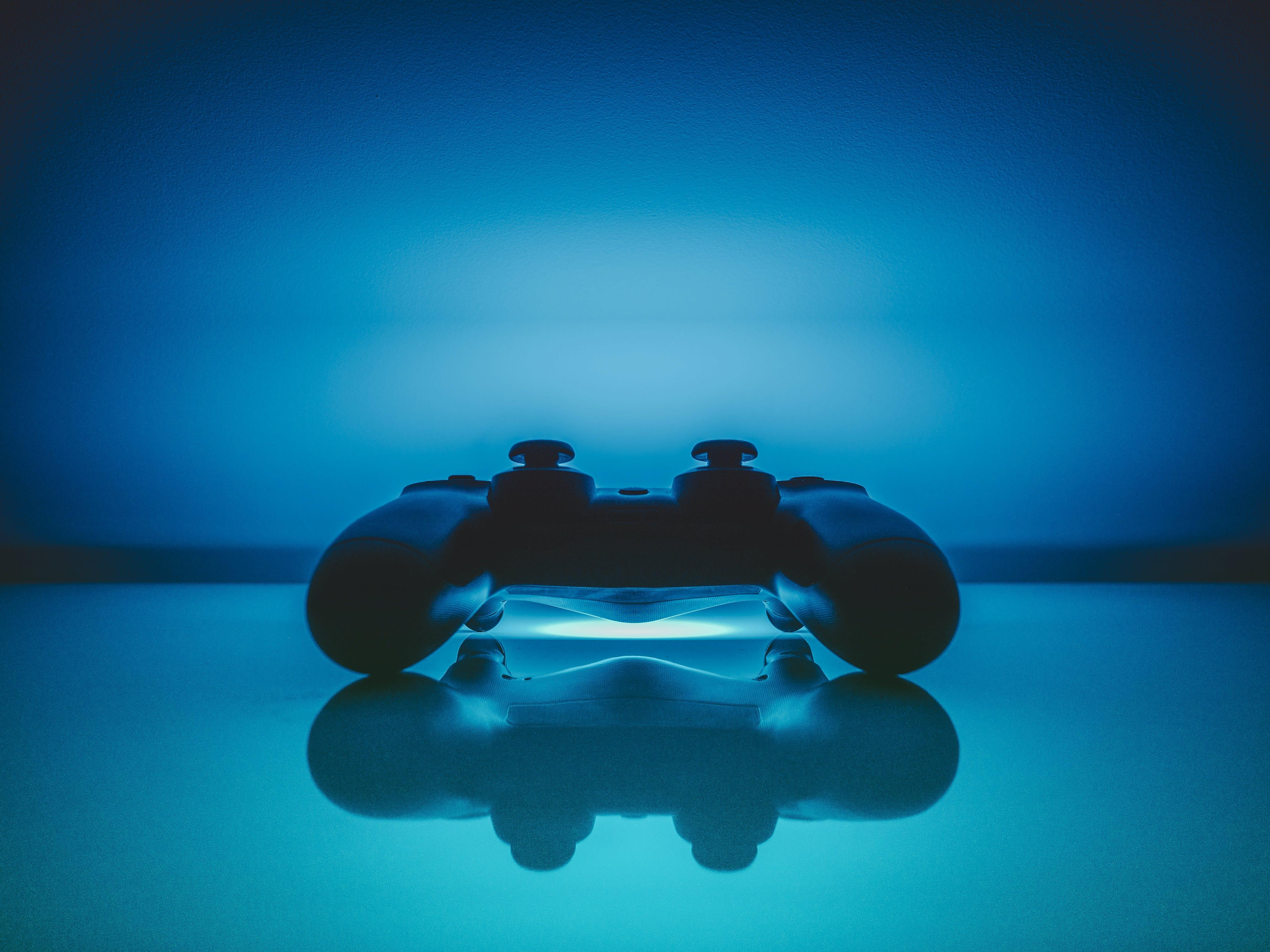 blue, controller, dualshock