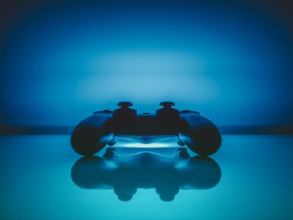 Black Sony Dualshock 4 Digital Wallpaper