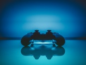 blue, reflection, controller