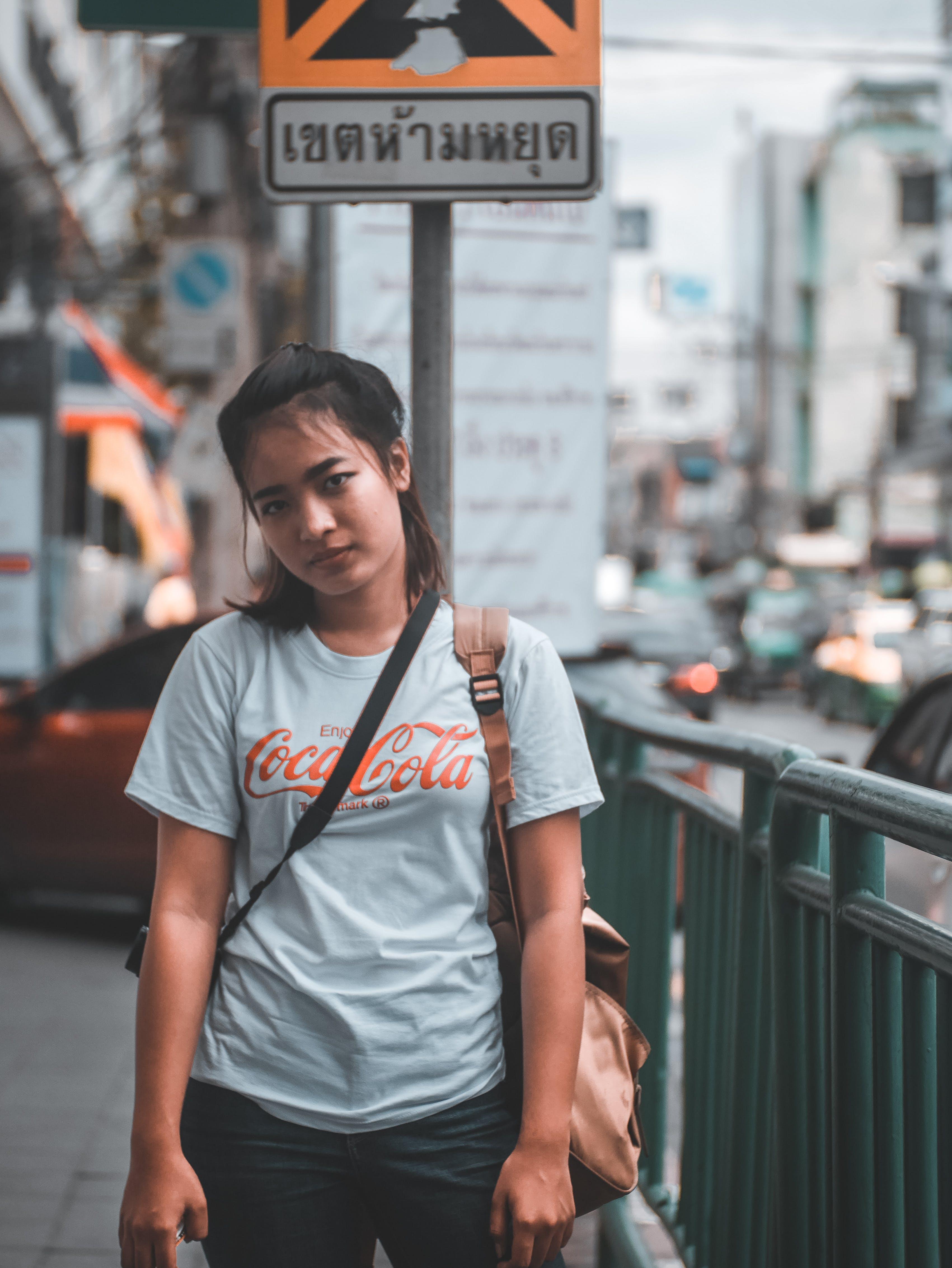 asiatische frau, asiatische person, autos
