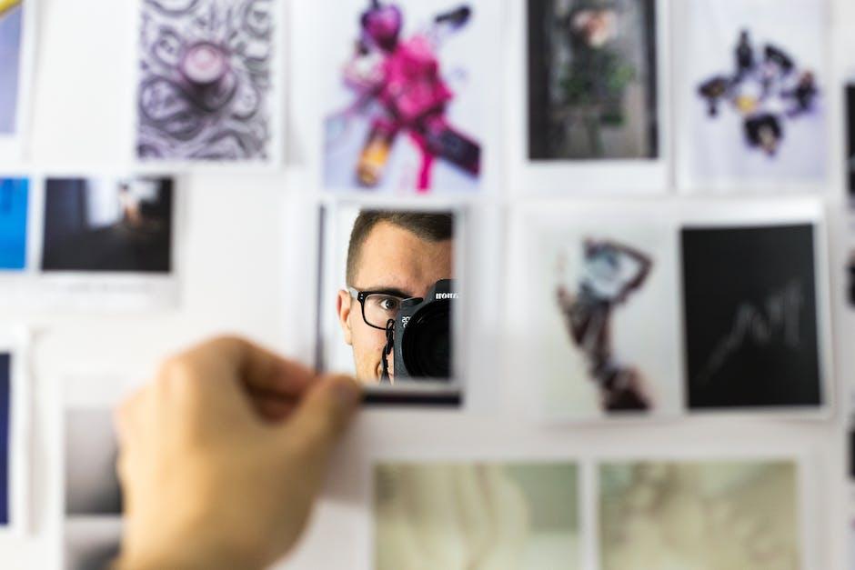 camera, collage, photo