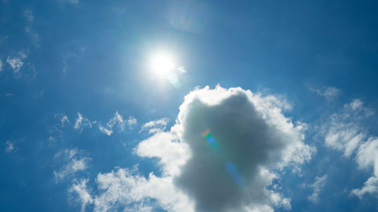天空, 燃燒, 閃光 的 免费素材图片