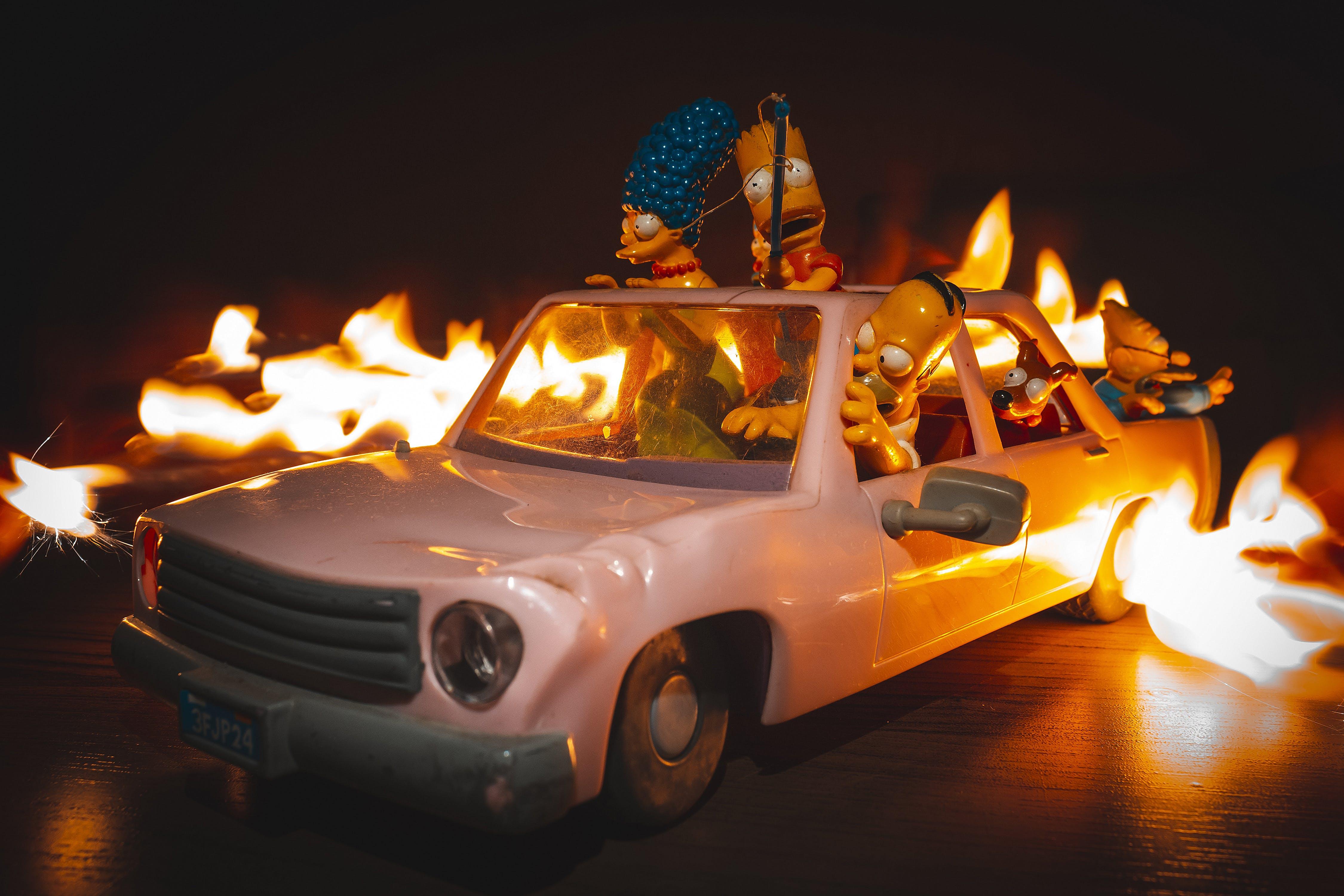 Gratis lagerfoto af action figur, exposição longa, fogo