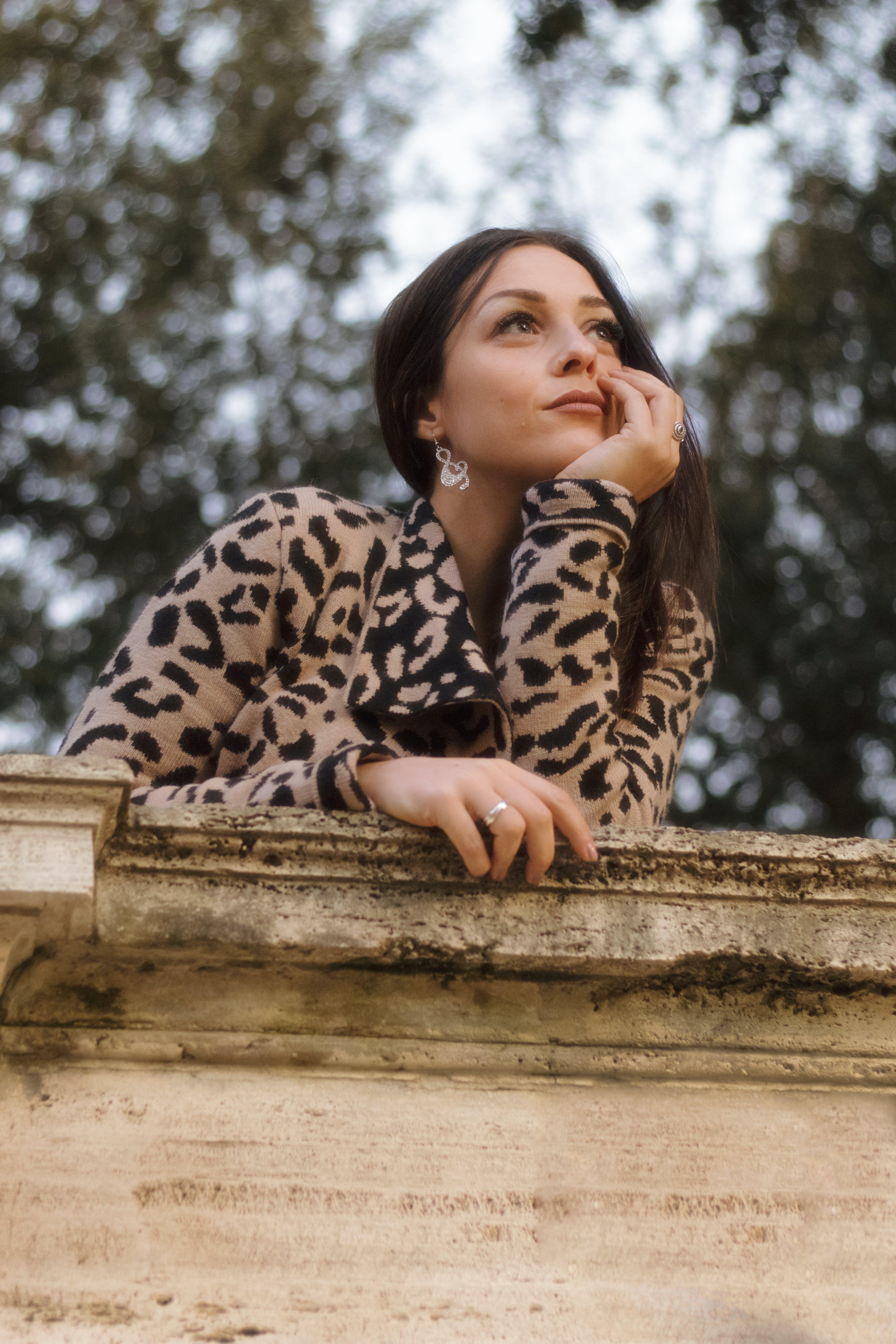 Photo of Woman Wearing Leopard Print Jacket