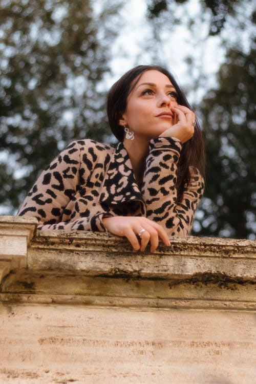 Photo of Woman Wearing Leopard Print Jacket
