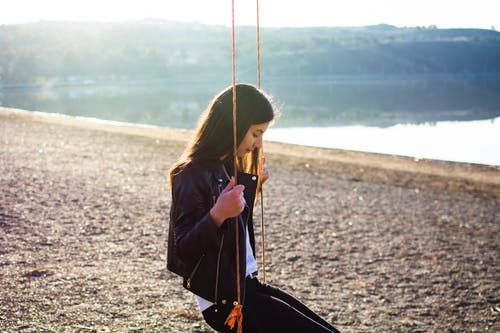 Free stock photo of beach, girl, hanging