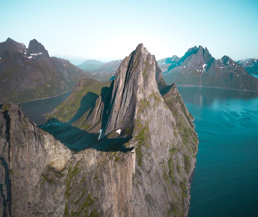 denní, denní světlo, fjord