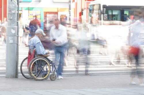 Free stock photo of busy street, disability, long exposure, people on streets