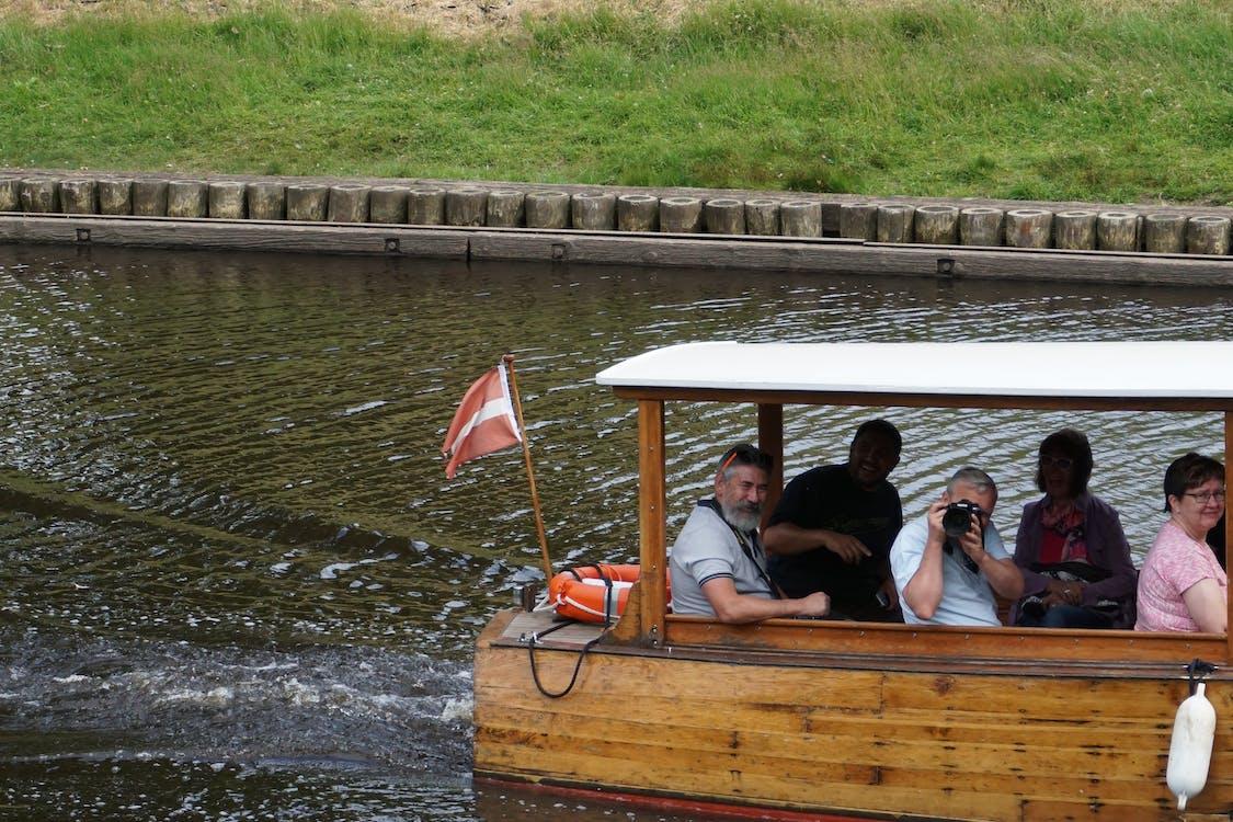 amusement, bateau, eau