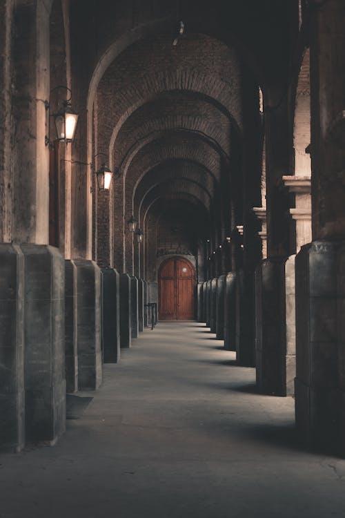 Foto profissional grátis de arcadas, arquitetura, colunas, construção