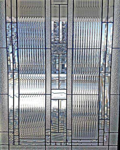 #door #stain glass #winter #snow #texture 的 免費圖庫相片