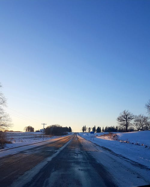 #nature #sky #clouds #snow #winter, #路 的 免費圖庫相片