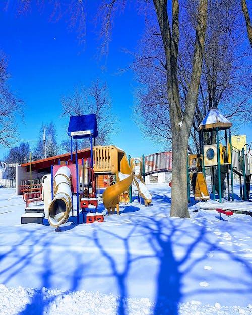 #nature #sky #tree #snow #winter #playground 的 免費圖庫相片