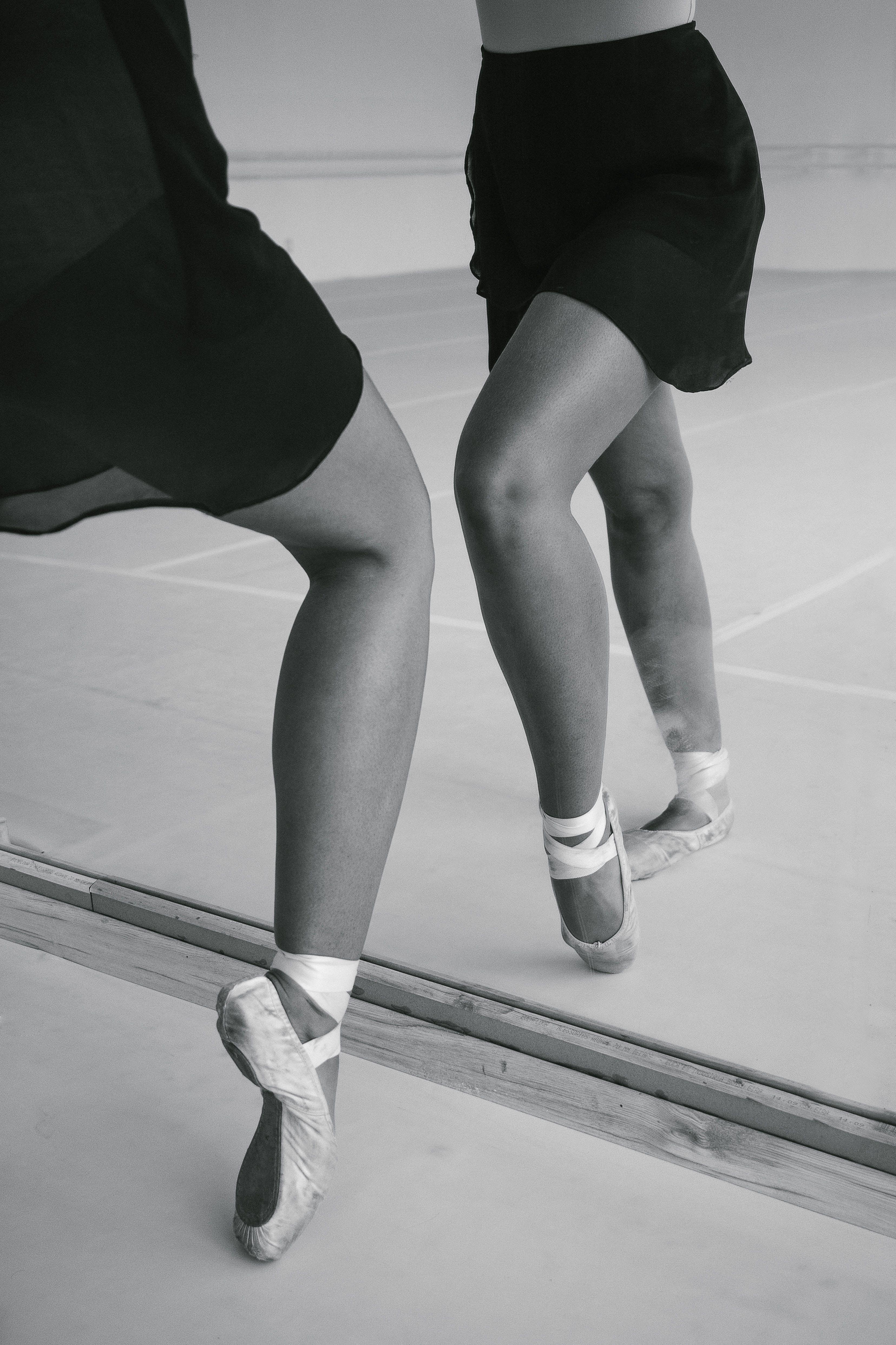 Monochrome Photo of Ballerina