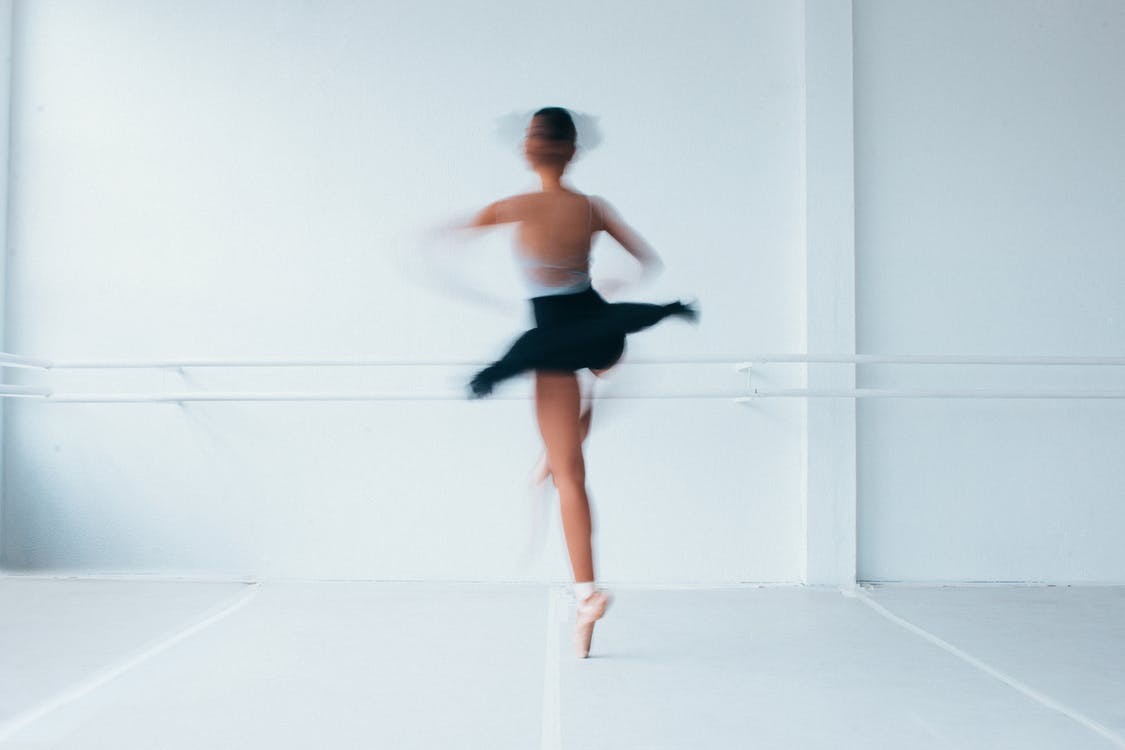 baletka, dlouhá expozice, nosit