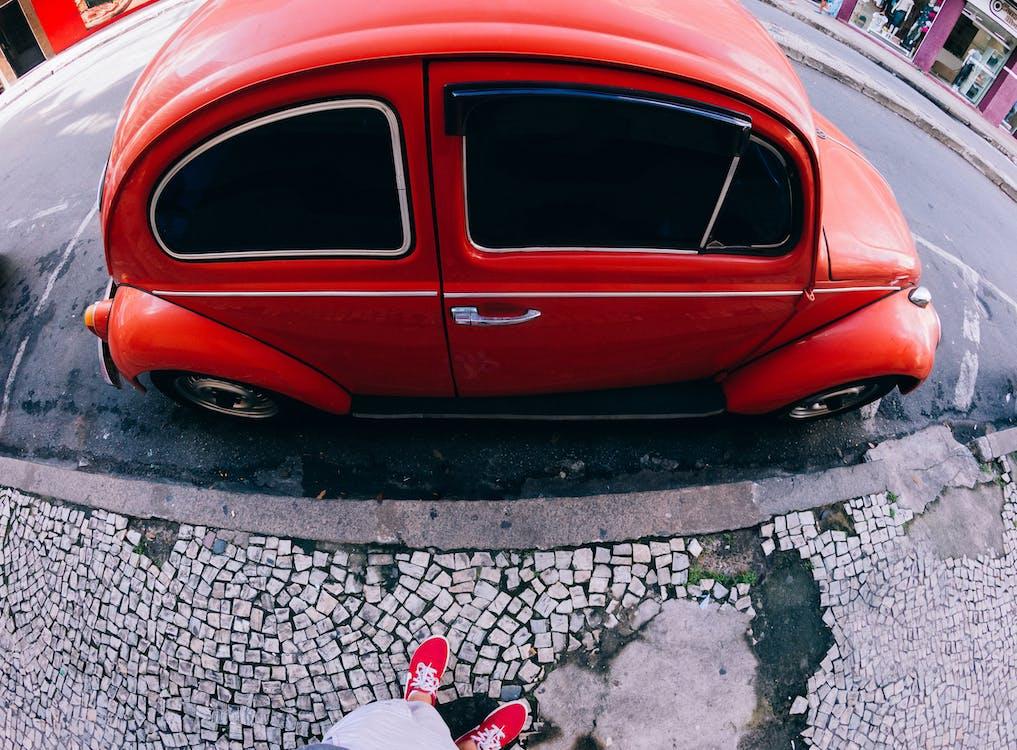 auto, straat, straatkunst