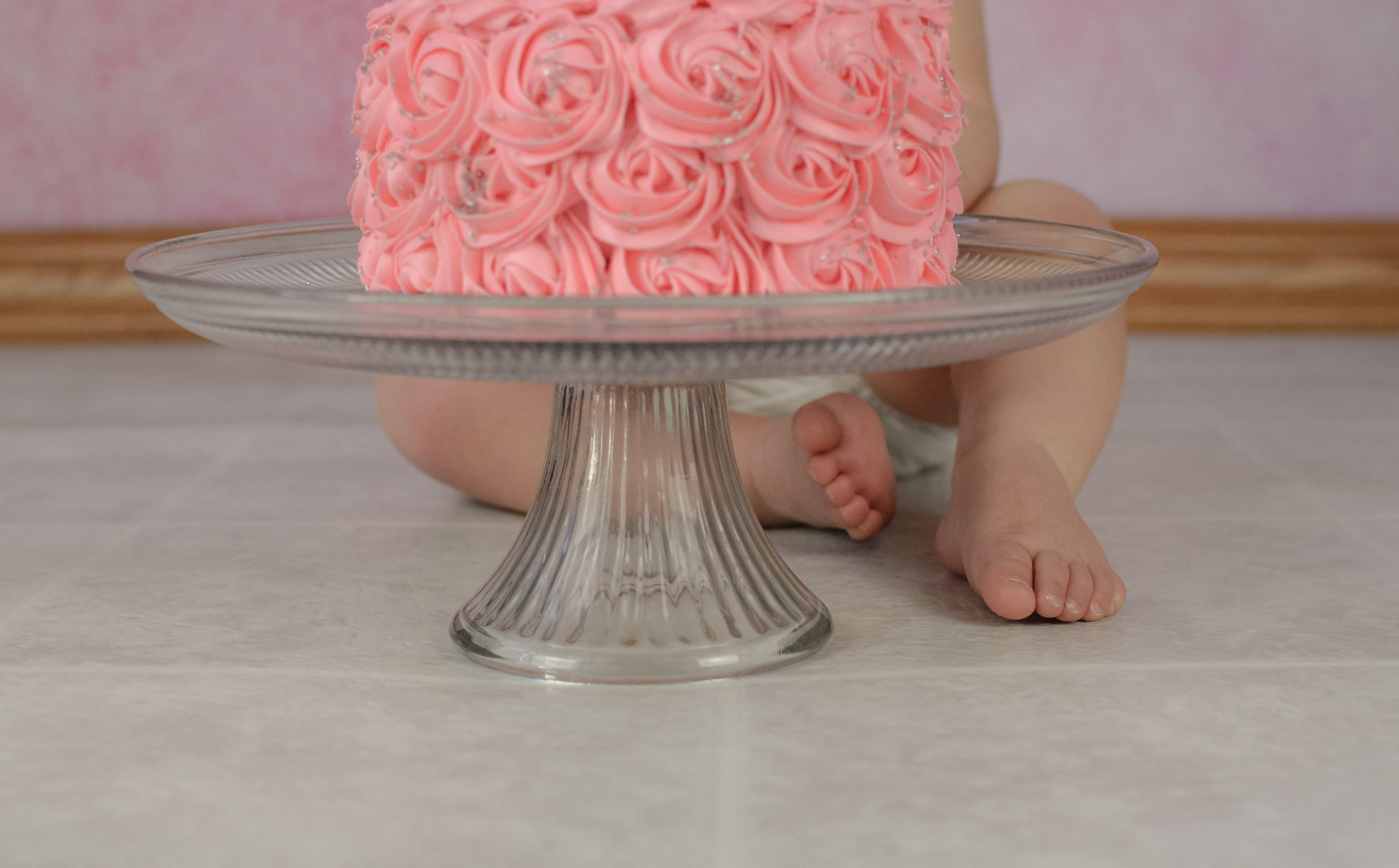 Free stock photo of baby, cake, cake smash, pink frosting