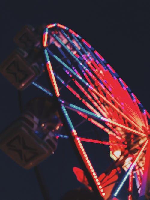 Blurry Photo Of Ferris Wheel
