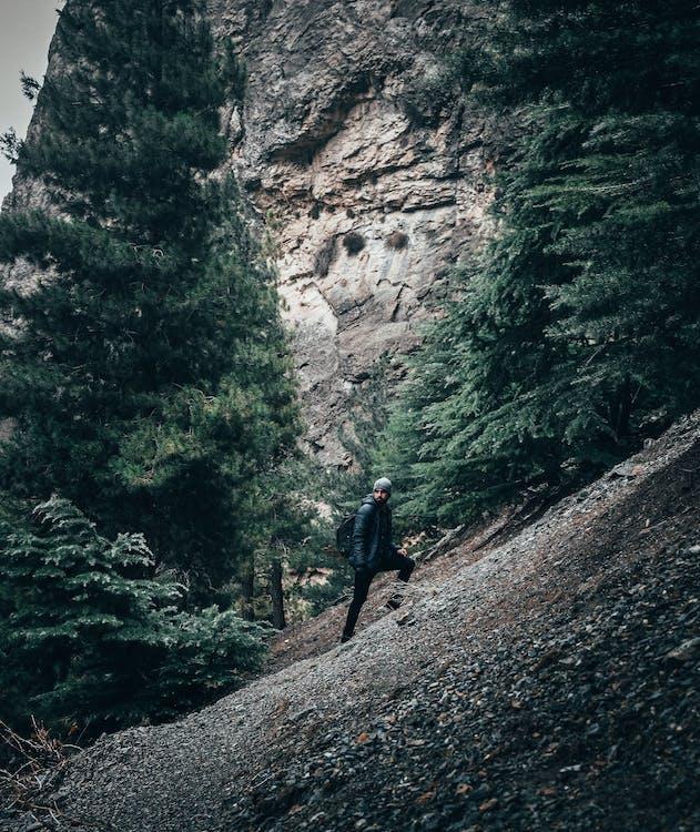 Photo of Man Climbing