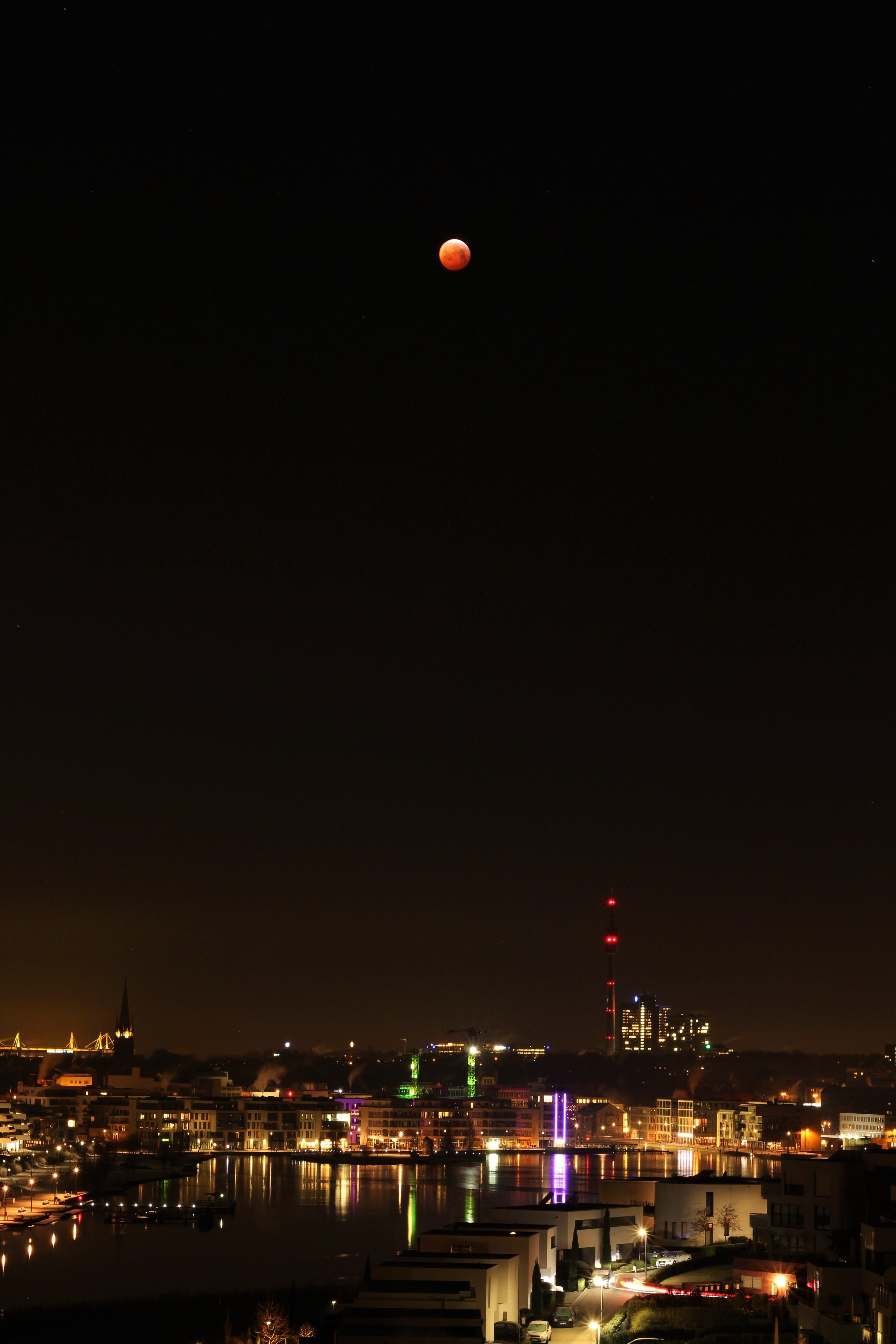 Kostenloses Stock Foto zu astronomie, belichtung, blut, blutmond