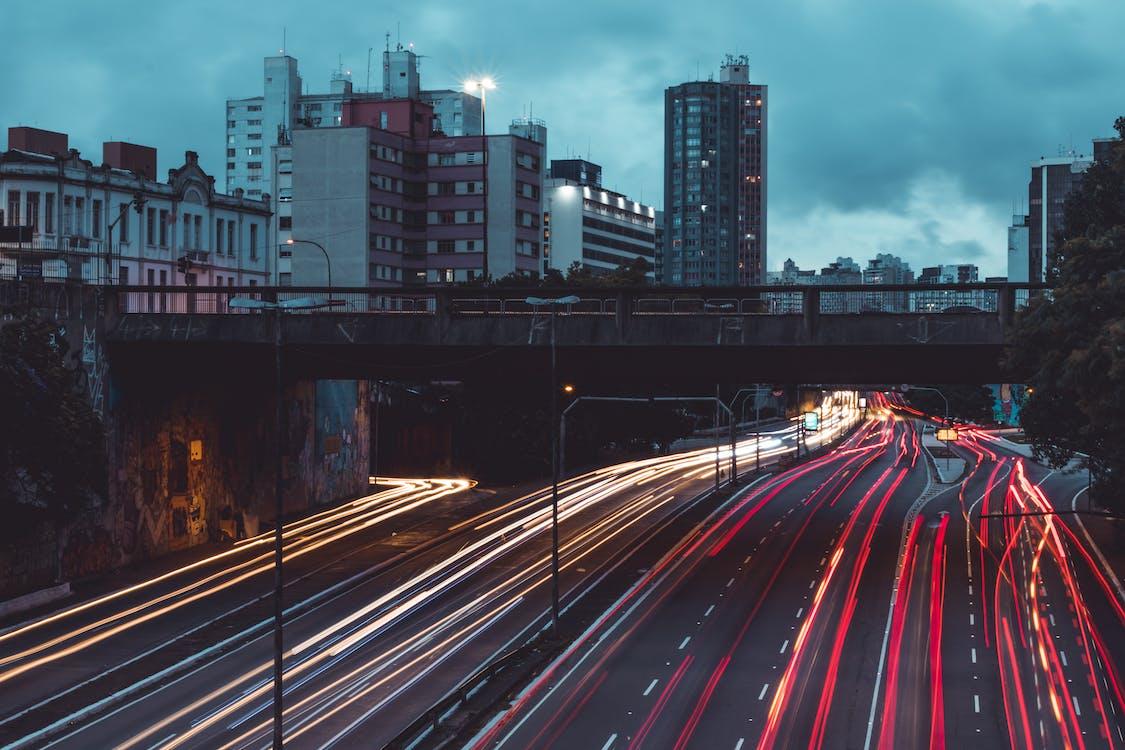 arkitektur, asfalt, bilar