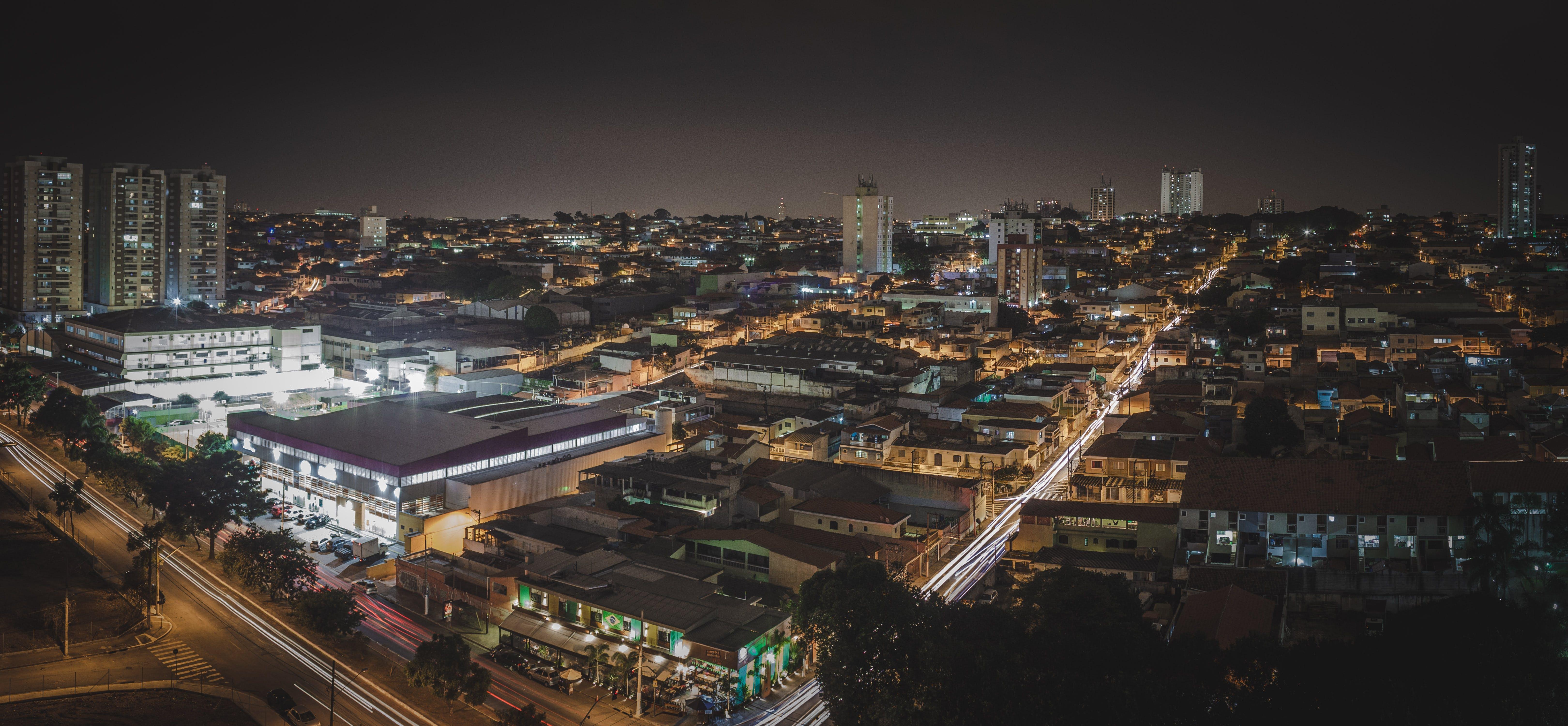Gratis lagerfoto af by, natfotografi, panoramafoto, panoramaudsigt